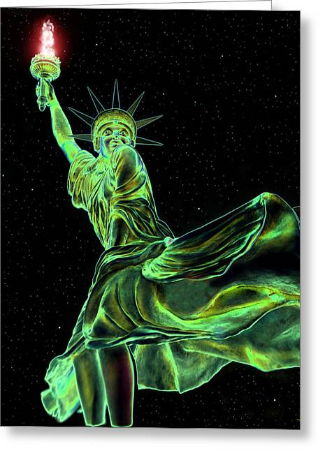 Stary Greeting Cards - Sweat Liberty Greeting Card by David Lee Thompson