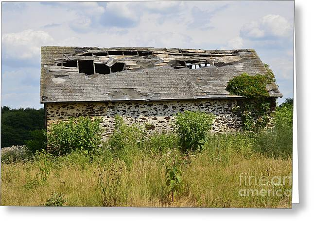 Old Barns Greeting Cards - Swede Run Barn 2 Greeting Card by Jan Daniels