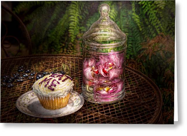 Sweet - Cupcake - Eat Me Greeting Card by Mike Savad