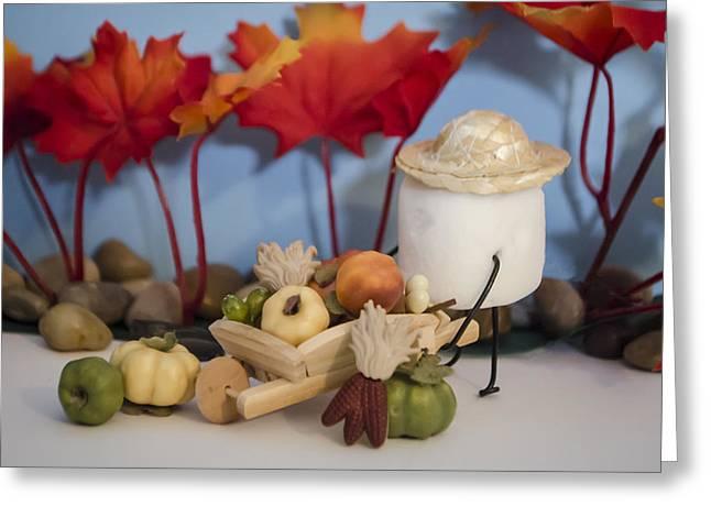 Cornucopia Greeting Cards - Sweet Abundance Greeting Card by Heather Applegate
