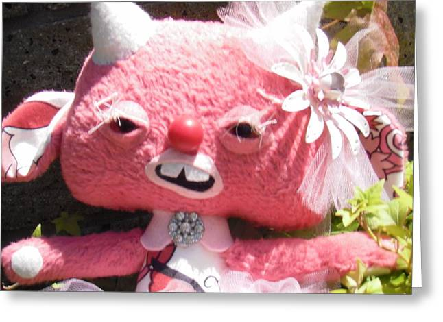 Toys Sculptures Greeting Cards - Sweet and Sassy Greeting Card by Leeanne Vavra