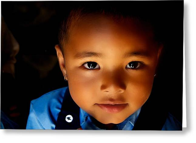 Innocence Child Greeting Cards - Sweet Baabu Greeting Card by Valerie Rosen