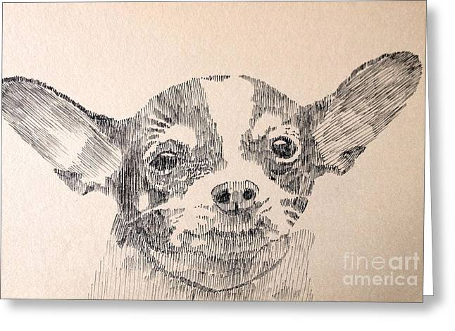 Sweet Chi Greeting Card by Robbi  Musser