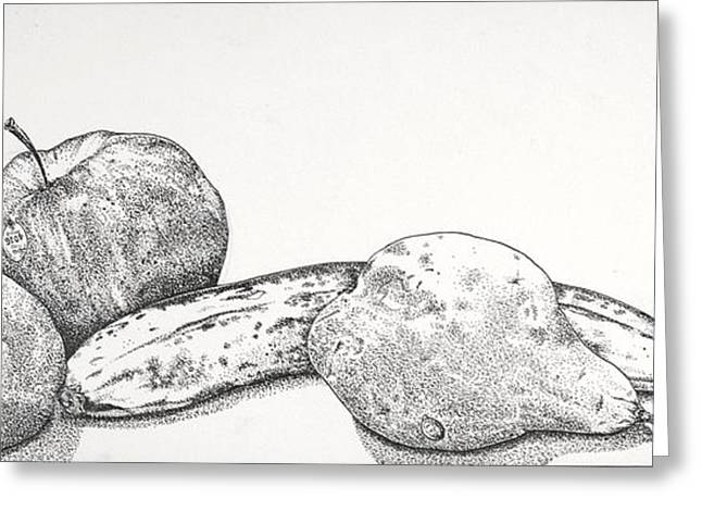 Fruit Drawings Greeting Cards - Sweet Cousins Greeting Card by D K Betts