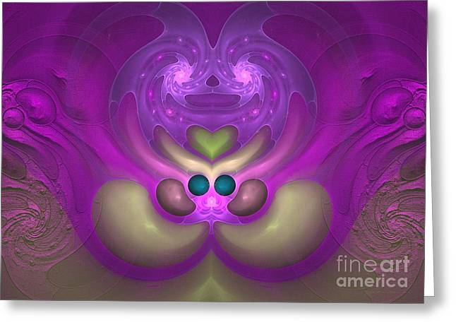 Sweet Dreams - Abstract Digital Art Greeting Card by Sipo Liimatainen