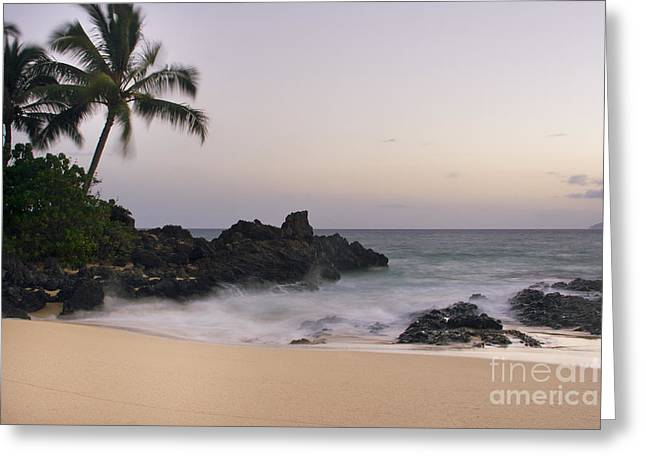 Honuaula Greeting Cards - Sweet Dreams - Paako Beach Maui Hawaii Greeting Card by Sharon Mau