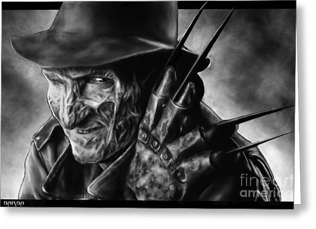 Freddy Kruger Greeting Cards - Sweet Dreams Greeting Card by Ronald Barba