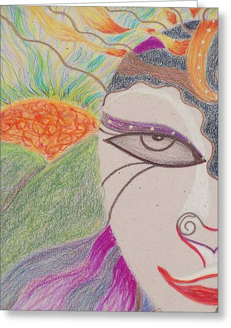 Subconscious Pastels Greeting Cards - Sweet Dreams Greeting Card by Terral