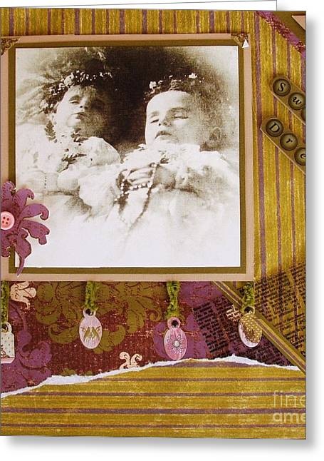 Rosary Mixed Media Greeting Cards - Sweet Dreams Greeting Card by Therese Alcorn