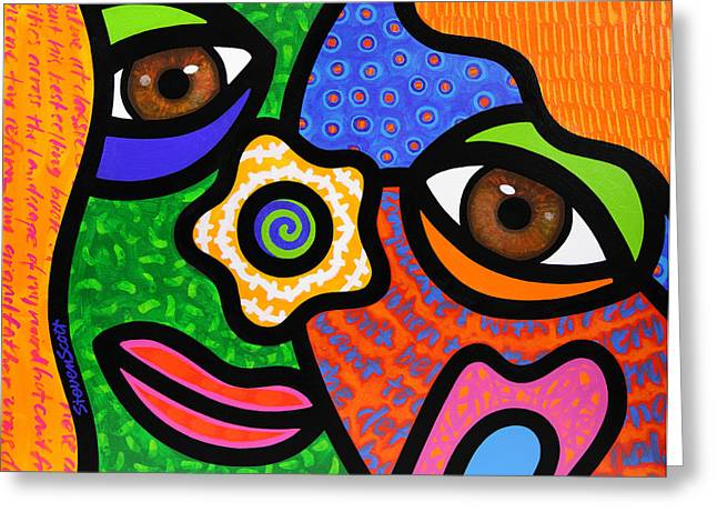 Abstract Faces Greeting Cards - Sweet Escape Greeting Card by Steven Scott