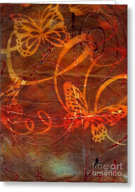 Survivor Art Greeting Cards - Sweet Goodbyes and Butterflies Greeting Card by Angela L Walker