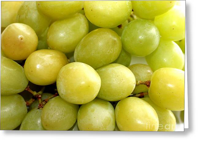 Bunch Of Grapes Greeting Cards - Sweet Green Grapes Greeting Card by Barbara Griffin