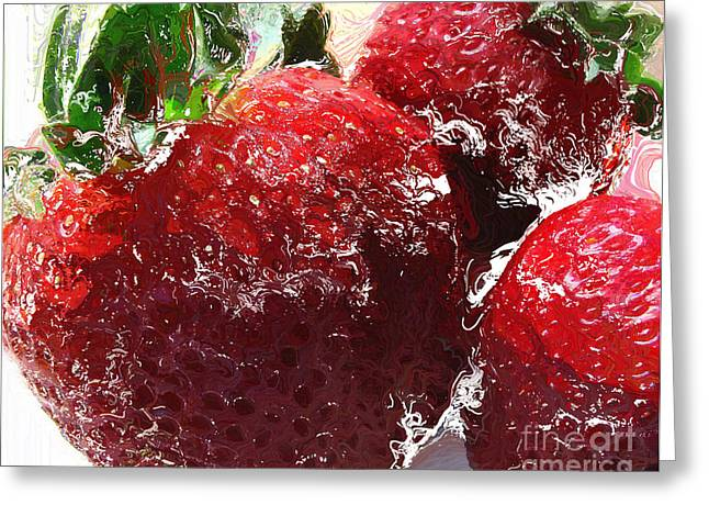 Home-like Greeting Cards - Sweet  Like a Chocolate Strawberry Greeting Card by Colleen Kammerer