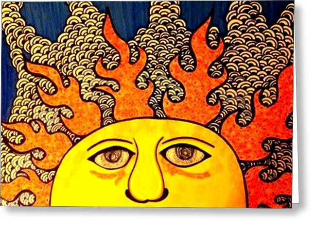 Amazing Sunset Mixed Media Greeting Cards - Sweet Sunshine Greeting Card by Raquel Sturges