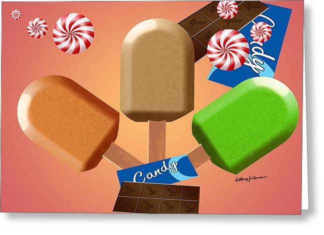 Food Digital Art Greeting Cards - Sweet Treats Greeting Card by Anthony Caruso