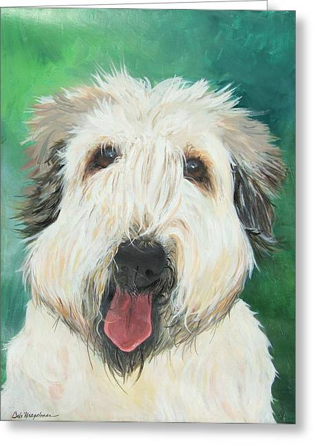 Art In Acrylic Greeting Cards - Sweet Wheaton Greeting Card by Deb Magelssen