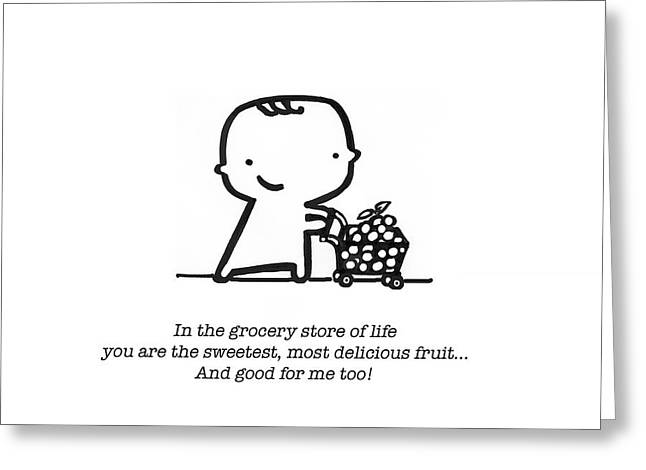 Sweetest Fruit Greeting Card by Leanne Wilkes