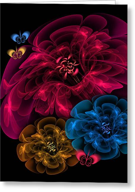 Karlajkitty Digital Art Greeting Cards - Sweetheart Bouquet Greeting Card by Karla White