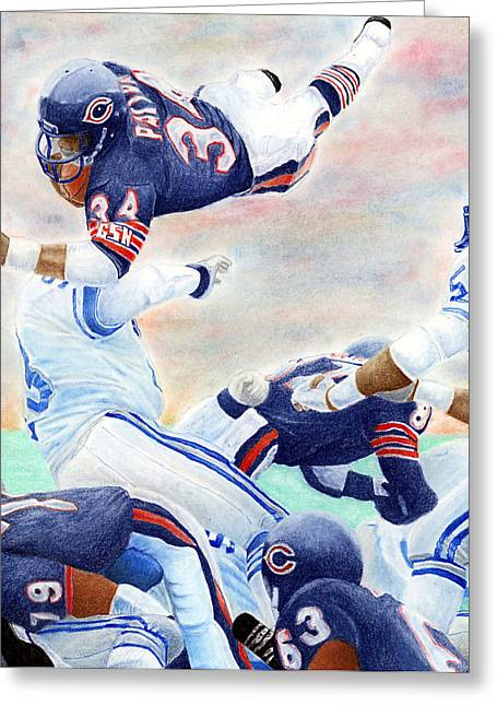 Footballs Greeting Cards - Sweetness Over the Top Greeting Card by Lyle Brown