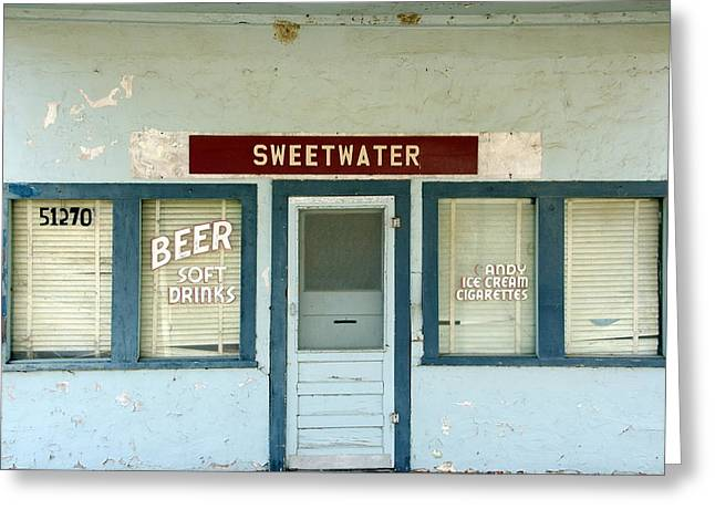 Sweetwater Store Greeting Card by Jeff Lowe