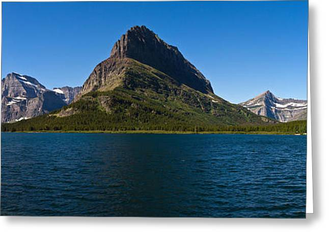 Large Scale Greeting Cards - Swiftcurrent Lake Greeting Card by Josh Lucas