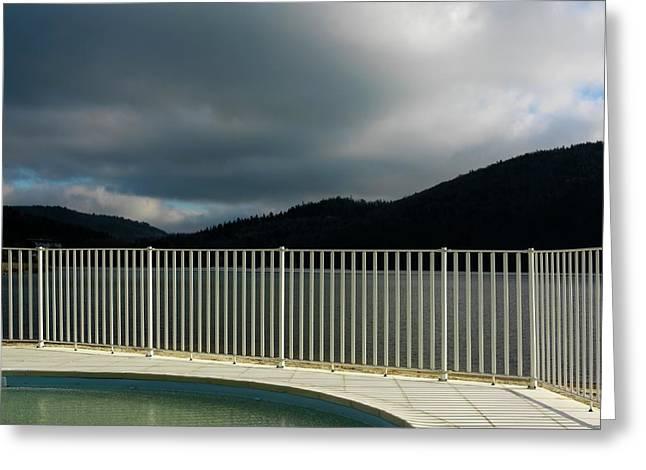 The Protected Greeting Cards - Swimming pool Greeting Card by Bernard Jaubert