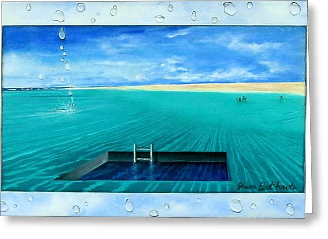 Sharon Ebert Greeting Cards - Swimming Pool Greeting Card by Sharon Ebert