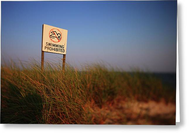 Swimming Prohibited Greeting Card by Rick Berk