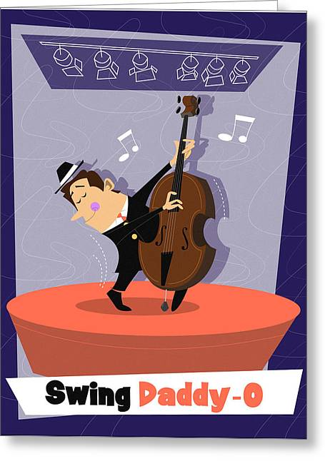 Swing Daddy-o Greeting Card by Andrew Fling