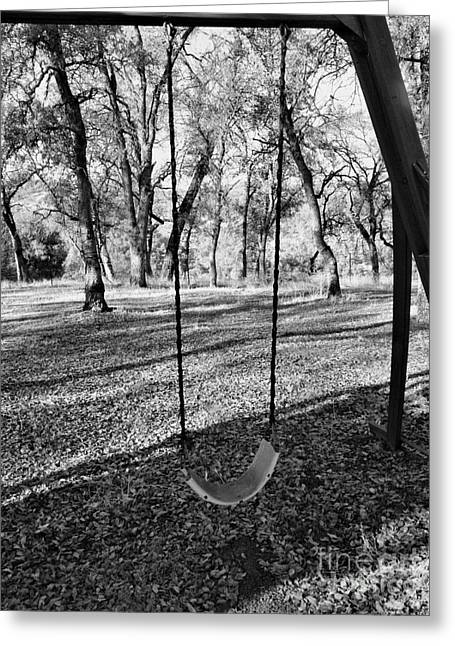 Reception Greeting Cards - Swing with Me Greeting Card by Cheryl Young