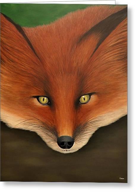 Hunting Bird Greeting Cards - Swiper the Fox Greeting Card by Kenneth M  Kirsch