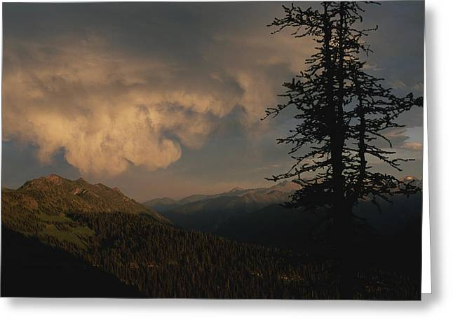 Park Scene Greeting Cards - Swirling Clouds Over North Cascades Greeting Card by Annie Griffiths