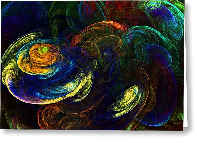 Storm Prints Greeting Cards - Swirling Storms Greeting Card by Ricky Barnard
