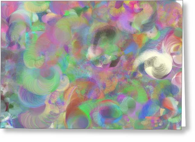 Multihued Greeting Cards - Swirls of Color Greeting Card by Michelle  BarlondSmith