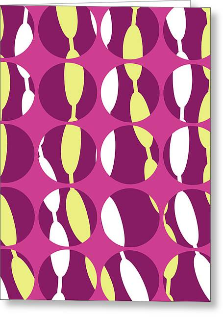 Swirly Greeting Cards - Swirly Stripe Greeting Card by Louisa Knight