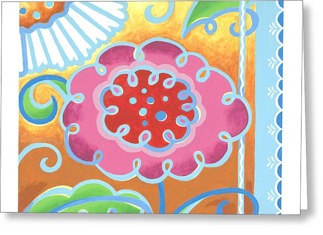 Swirly World Greeting Card by Renee Womack