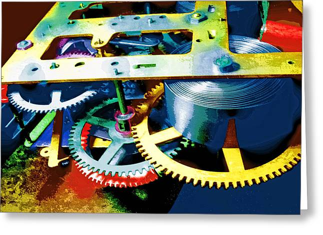 Swiss Mixed Media Greeting Cards - Swiss Movement Greeting Card by Dominic Piperata