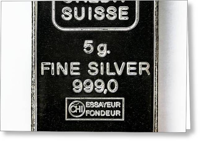 Swiss Silver Bar Greeting Card by Laguna Design