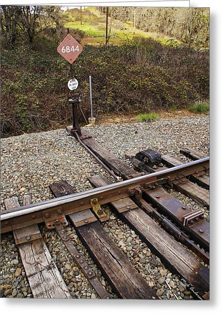 """""""rail Siding"""" Greeting Cards - Switch 6844 Greeting Card by Mick Anderson"""