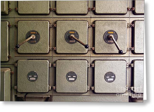 Mechanism Greeting Cards - Switch Panel Greeting Card by Carlos Caetano