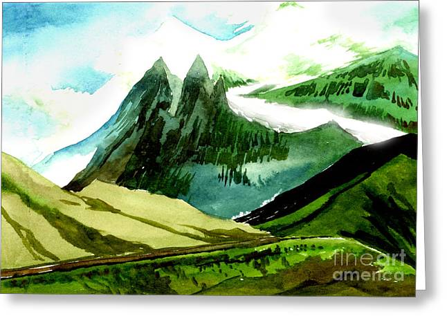 All Landscape Greeting Cards - Switzerland Greeting Card by Anil Nene