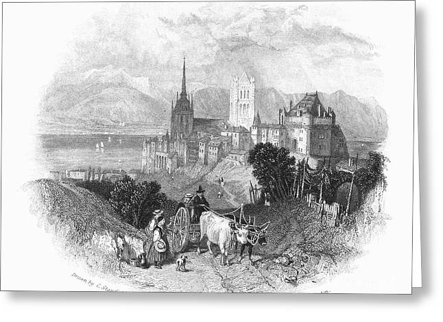 1833 Greeting Cards - Switzerland: Lausanne Greeting Card by Granger