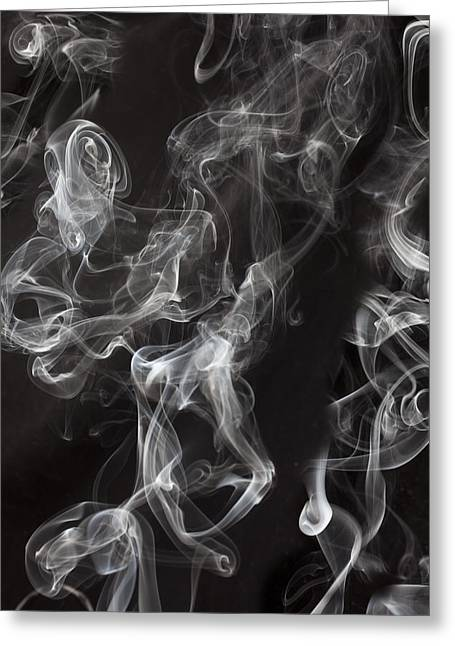 Emissions Greeting Cards - Swriling Smoke  Greeting Card by Garry Gay