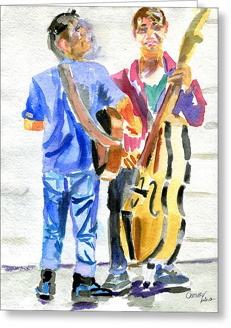 South By Southwest Greeting Cards - SXSW Street Scene Greeting Card by Donna Crosby