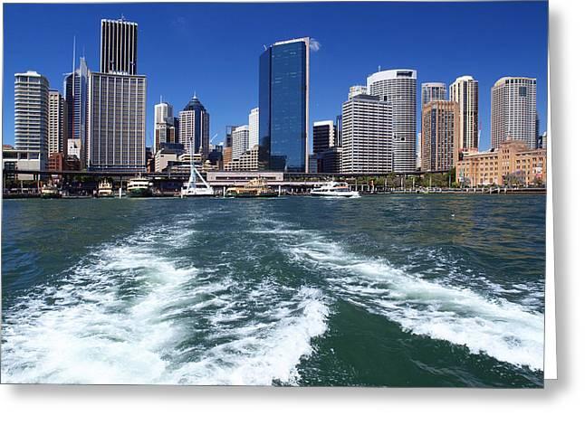 Nsw Greeting Cards - Sydney Circular Quay Greeting Card by Melanie Viola