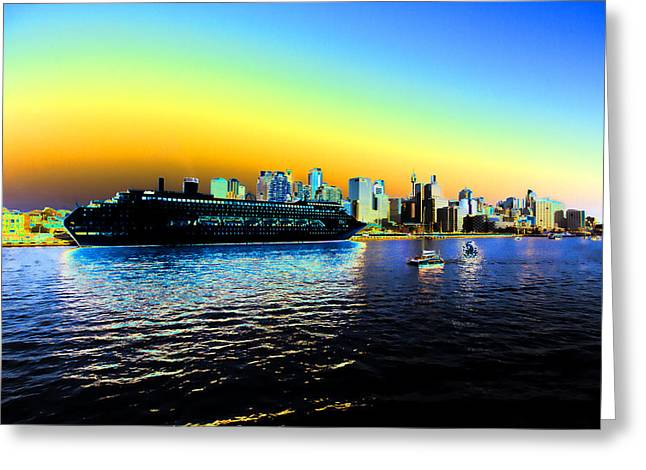 Darling Harbour Greeting Cards - Sydney in Color Greeting Card by Douglas Barnard
