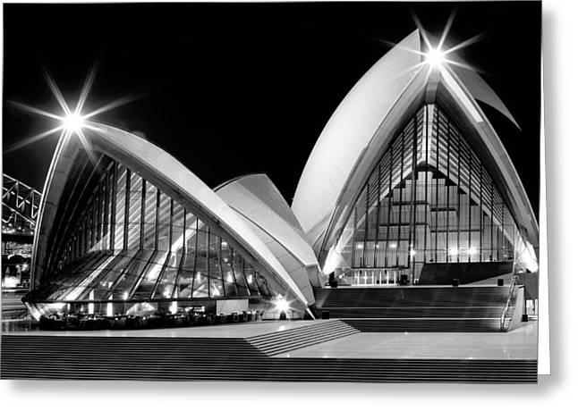 Joannes Greeting Cards - Sydney Opera House at night Greeting Card by Thomas Joannes