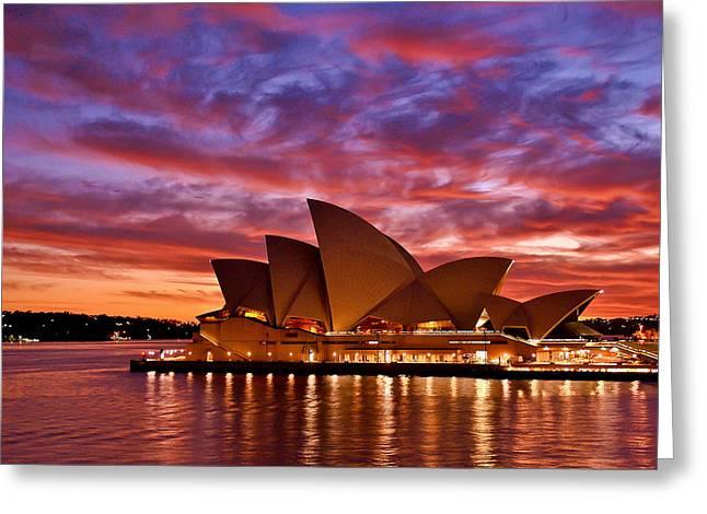 Sydney Operahouse Greeting Card by Preston Coe