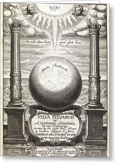 Book Title Greeting Cards - Sylva Sylvarum Title Page, 1627 Greeting Card by Middle Temple Library
