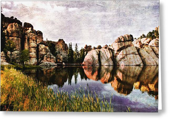 Landscape. Scenic Digital Art Greeting Cards - Sylvan Lake - Black Hills Greeting Card by Ellen Heaverlo